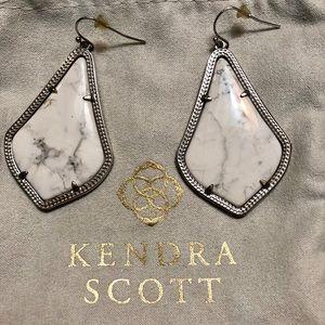Kendra Scott Alex Rhodium White Howlite